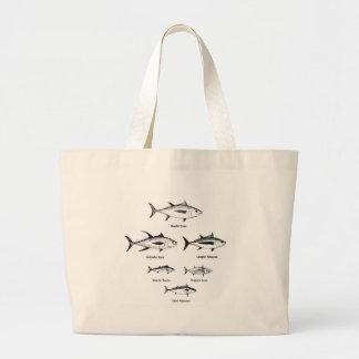Offshore Fishing - Tuna Logo Large Tote Bag