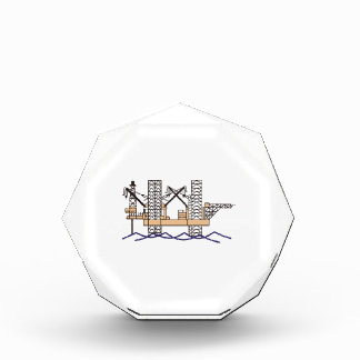 OFFSHORE OIL RIG ACRYLIC AWARD