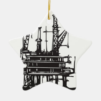 Offshore Oil Rig Ornament