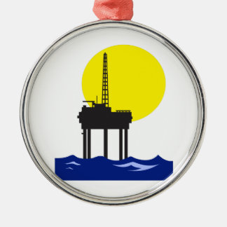 OFFSHORE OIL RIG CHRISTMAS ORNAMENT