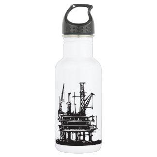 Offshore Oil Rig Water Bottle