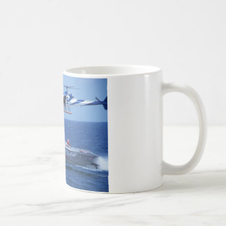Offshore Powerboat And Helicopter Coffee Mug