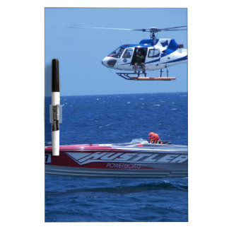 Offshore Powerboat And Helicopter Dry-Erase Board