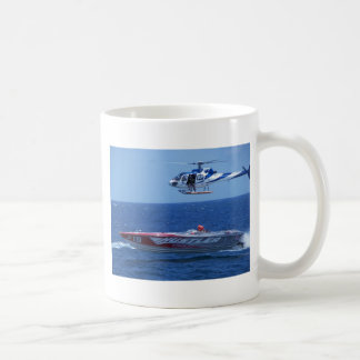 Offshore Powerboat And Helicopter Mug