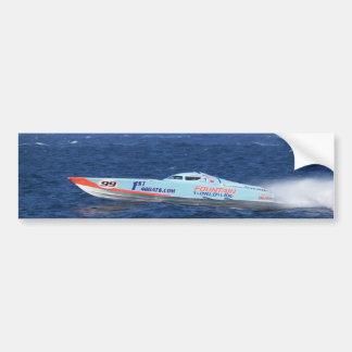 Offshore Powerboat Racer Car Bumper Sticker