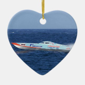 Offshore Powerboat Racer Ceramic Ornament