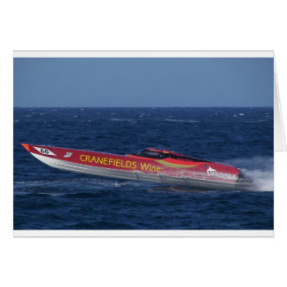 Offshore Powerboat Racing Greeting Card