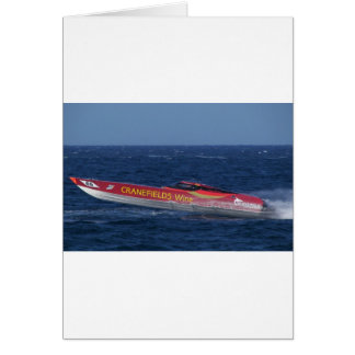 Offshore Powerboat Racing Card