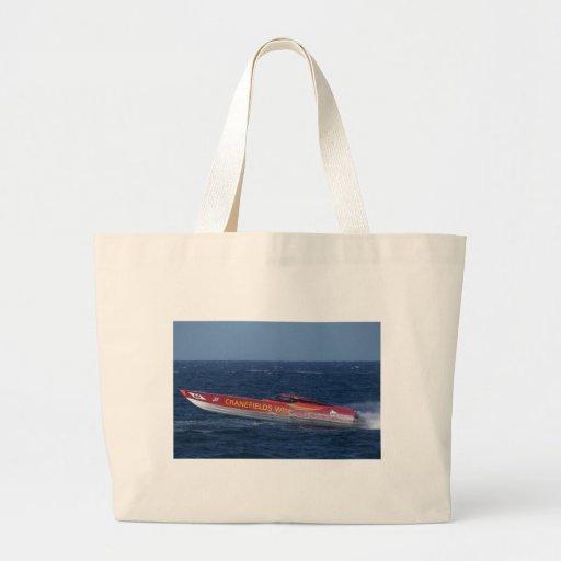 Offshore Powerboat Racing Jumbo Tote Bag