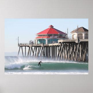 Offshore Santa Ana Winds ,Huntington Beach Ca . Poster