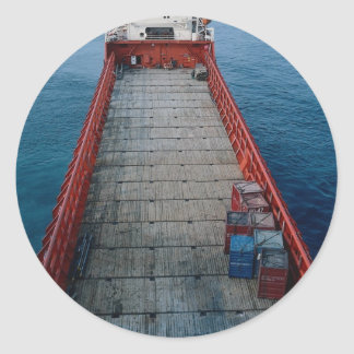 "Offshore supply ship ""Skanki Hav"", Norwegian secto Classic Round Sticker"