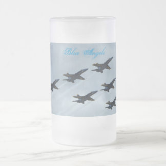 Offutt Air Force Base Frosted Glass Beer Mug
