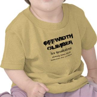 offwidth climber in training T shirt