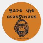 OFI - orangutanes y selva tropical del ahorro Etiqueta