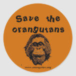OFI - orangutanes y selva tropical del ahorro Etiqueta Redonda