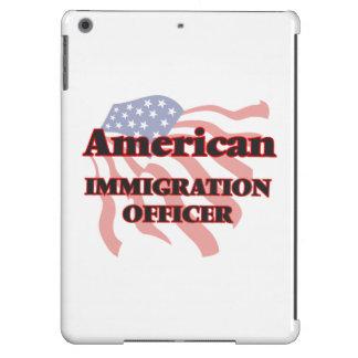 Oficial americano de la inmigración funda para iPad air
