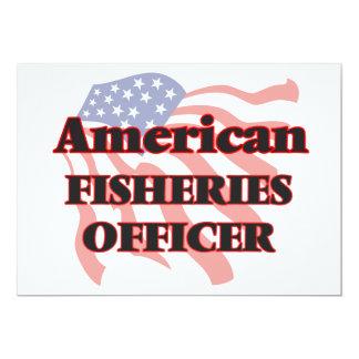 """Oficial americano de las industrias pesqueras invitación 5"""" x 7"""""""