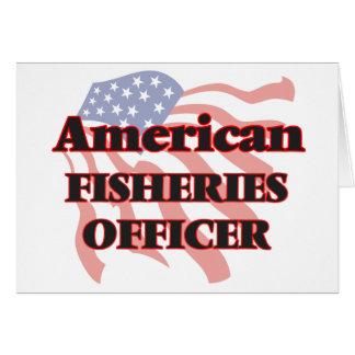 Oficial americano de las industrias pesqueras tarjeta de felicitación