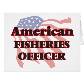 Oficial americano de las industrias pesqueras tarjeta de felicitación grande