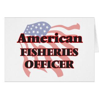 Oficial americano de las industrias pesqueras tarjeta pequeña