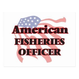 Oficial americano de las industrias pesqueras tarjetas postales