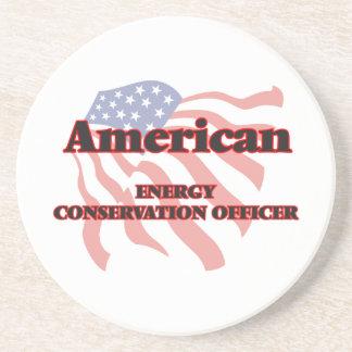 Oficial americano del ahorro de energía posavasos de arenisca