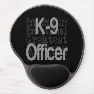 Oficial canino del oficial K9 Extraordinaire Alfombrilla Gel