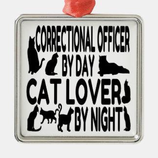 Oficial correccional del amante del gato adorno para reyes