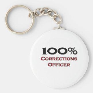 Oficial de 100 correcciones del por ciento llavero redondo tipo pin