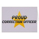 Oficial de corrección orgulloso felicitacion