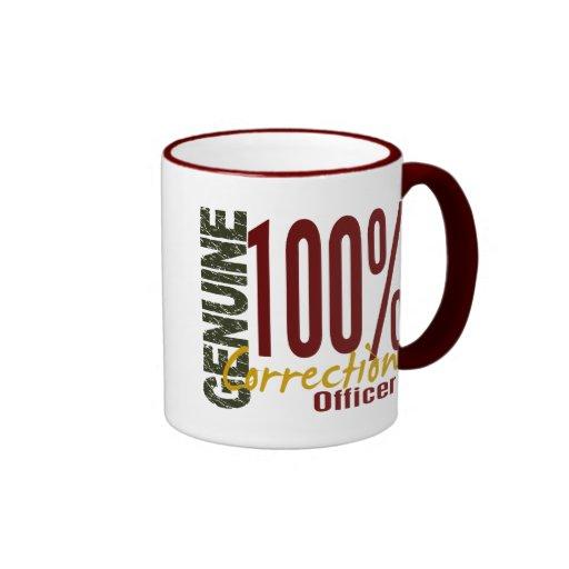 Oficial de correcciones auténtico taza de café