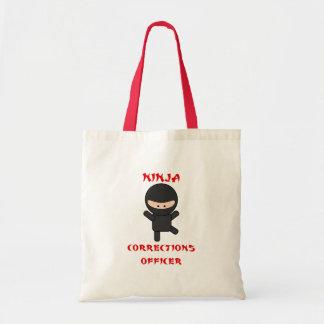 oficial de correcciones del ninja bolsa tela barata