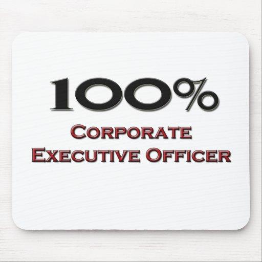 Oficial de ejecutivo empresarial del 100 por cient alfombrilla de ratón