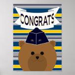 ¡Oficial de fuerza aérea Congrats! Poster