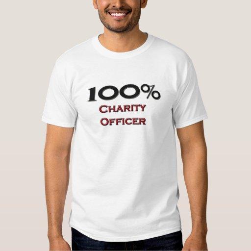 Oficial de la caridad del 100 por ciento playera