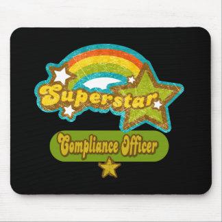 Oficial de la conformidad de la superestrella alfombrillas de ratón