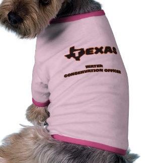 Oficial de la protección de agua de Tejas Camiseta Con Mangas Para Perro