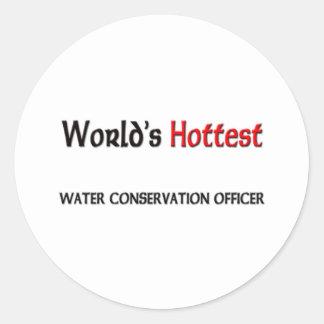 Oficial de la protección de la agua más caliente d pegatinas