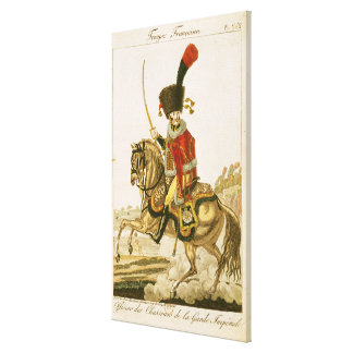 Oficial de los húsares del guardia imperial impresiones en lona estiradas