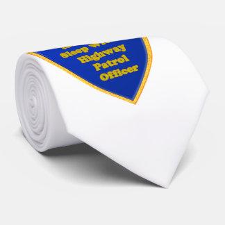 Oficial de patrulla de la carretera corbatas personalizadas