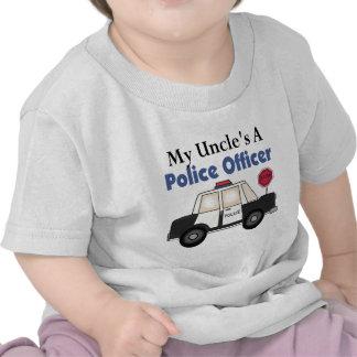 Oficial de policía A de tío Camisetas