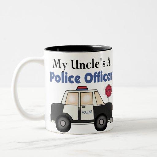 Oficial de policía A de tío Tazas De Café