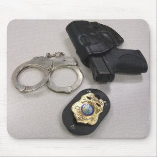 Oficial de policía alfombrillas de ratón