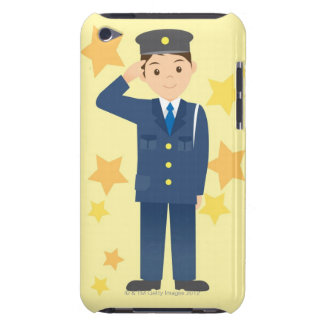 Oficial de policía barely there iPod carcasas