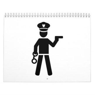 Oficial de policía calendarios