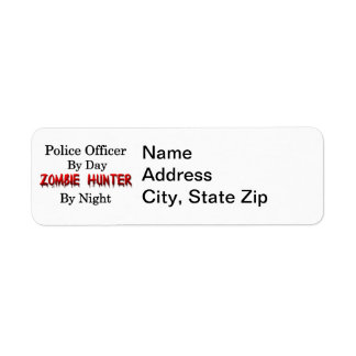 Oficial de policía cazador del zombi