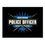 Oficial de policía certificado tarjeta postal