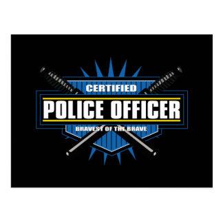 Oficial de policía certificado postales