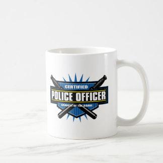 Oficial de policía certificado taza