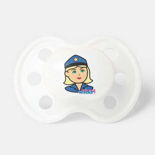 Oficial de policía chupete de bebé